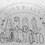 City bikes drawing
